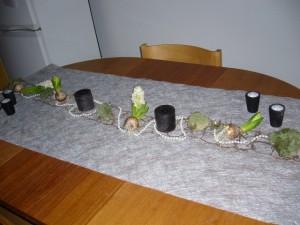 Hyacinter, pärlor och ljus