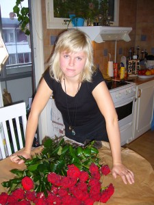 Jag och blommor