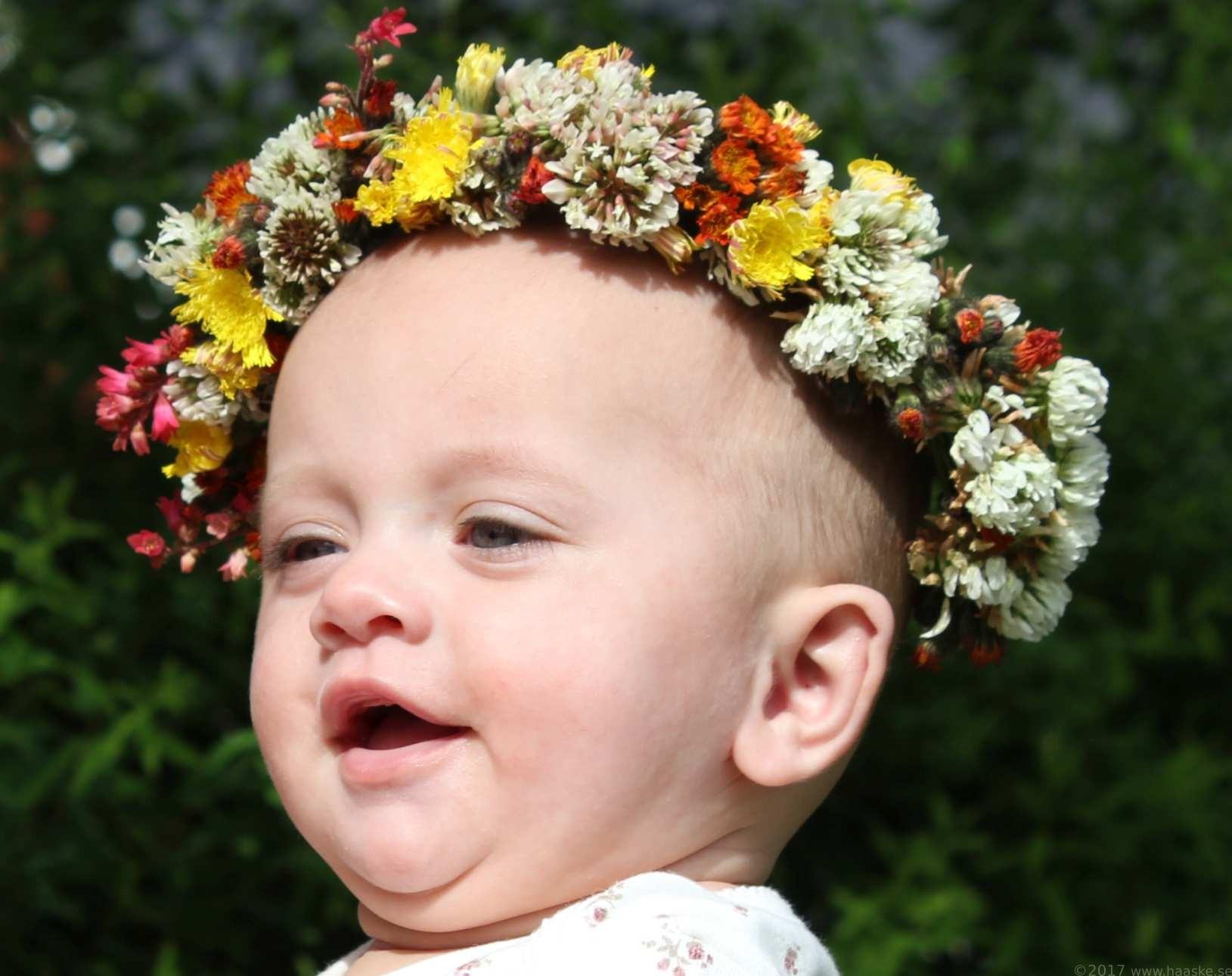 Beställa blomsterkrans till håret
